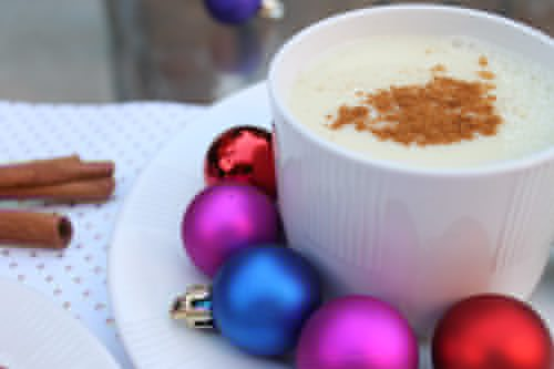 Silk-soy-spiked-egg-nog-with-whiskey-with-cinnamon-sticks