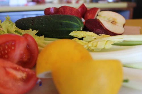 Juice Cleanse in Solana Beach with all fresh veggies and fruits by blogger Lauryn Evarts