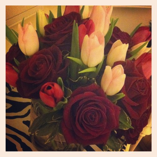 Lauryn-Evarts-Instagram-on-Valentines-Day-with-roses-from-Rancho-Santa-Fe-Flowers