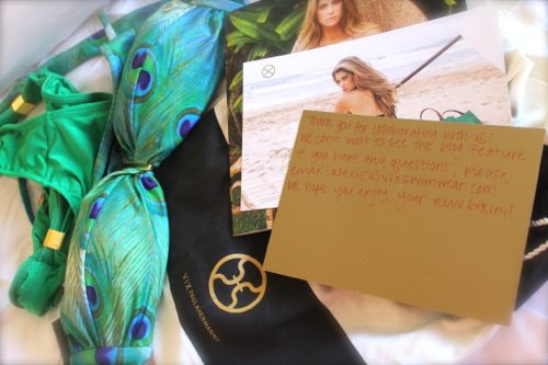 Lauryn Evarts collaborates with ViX Swimwear for a giveaway for The Skinny Confidential.
