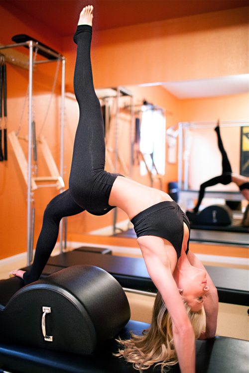 Cindy Jansen from Carmel Valley, Pilates teacher talks with fitness blogger, Lauryn Evarts.