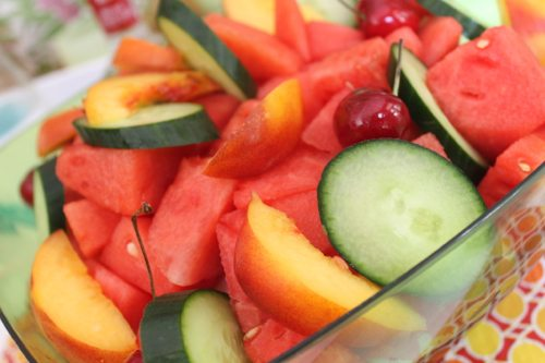A-Sexy-Summer-Salad-with-cucumber-and-cherries