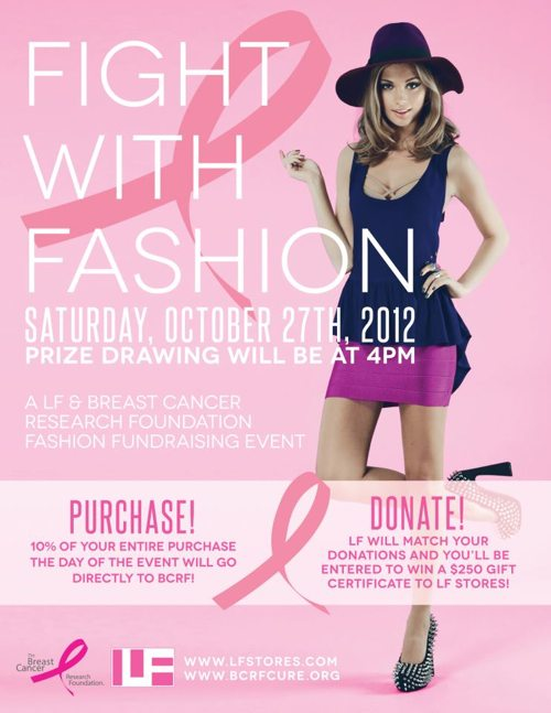 "LF La Jolla and the Skinny Confidential collaborate on the event ""Fight with Fashion"" for breast cancer."