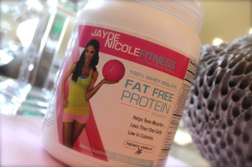 Lauryn Evarts adds Jayde Nicole's protein powder to coffee to sneak in extra nutrients.