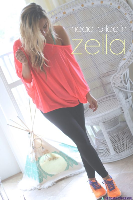 Lauryn Evarts from The Skinny Confidential wears Zella.
