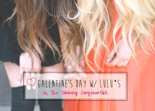 Lauryn Evarts and Erica Stolman celebrate Galentine's Day.