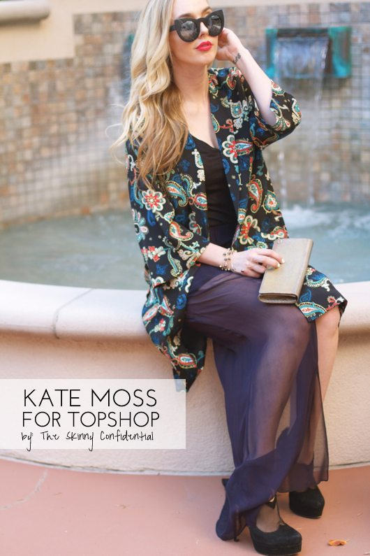 The Skinny Confidential talks Kate Moss for Topshop at Nordstrom.