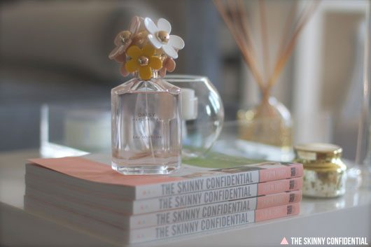 The Skinny Confidential x Marc Jacobs Daisy perfume.
