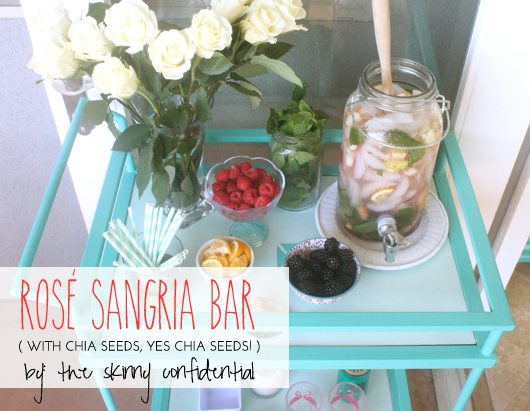 The Skinny Confidential and Rosé Sangria.