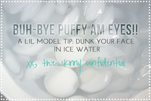 The Skinny Confidential talks ways to fight puffiness.