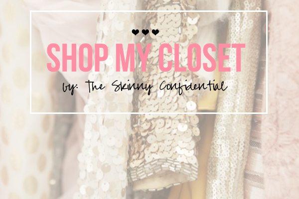 The Skinny Confidential shares her closet.