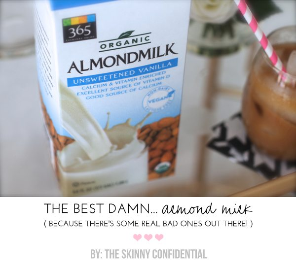 The Skinny Confidential talks almond milk.