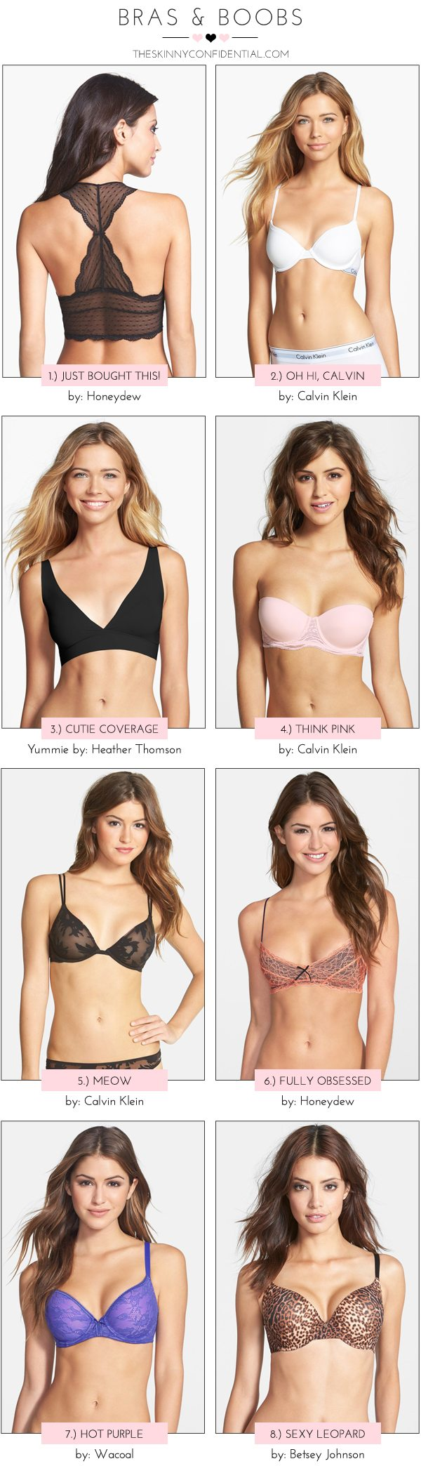 The Skinny Confidential x Nordstrom bra selection.