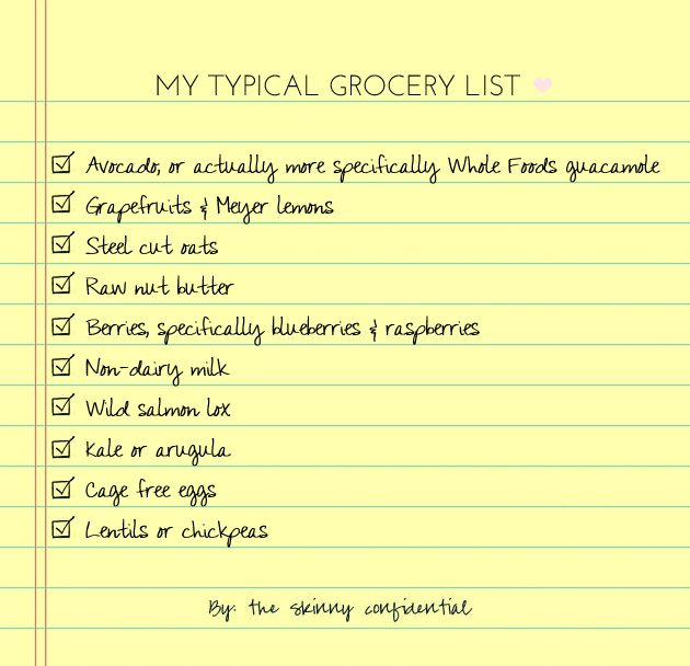 typical grocery lists - Carbon.materialwitness.co