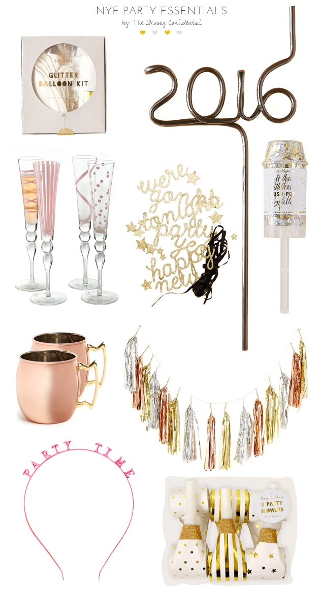 NYE Party Essentials | by the skinny confidential