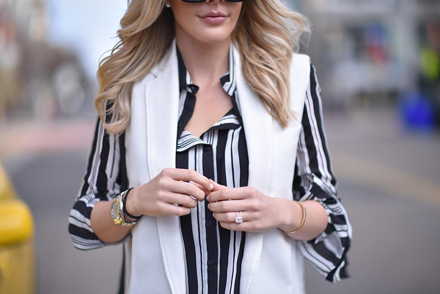 stripes & a vest | by the skinny confidential